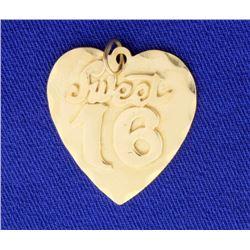 """Sweet 16"" Heart Pendant"