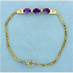 7 1/4 Inch Amethyst Bracelet