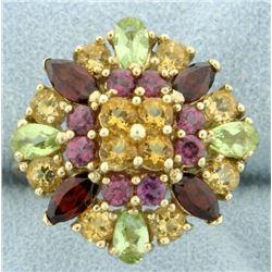 5.5 ct TW Multi Colored Gemstone Ring