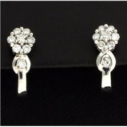 .80ct TW Diamond Flower Earrings