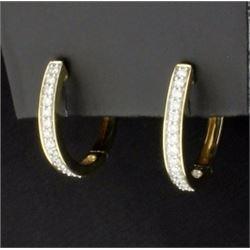 3/4 ct TW Diamond Hoop Earrings