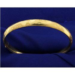 Engraved Bangle Bracelet