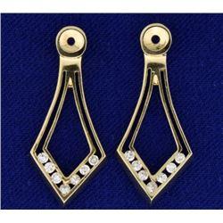 1/4 ct TW Drop Diamond Stud Earring Enhancers