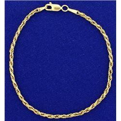 7 3/4 Inch Rope Style Bracelet
