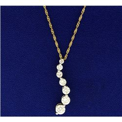 1.8ct TW Diamond Journey Pendant with Chain