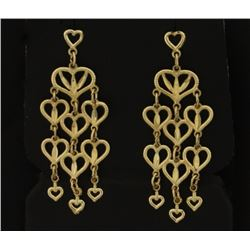 Heart Dangle Chandelier Earrings
