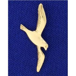 14k Gold Dove or Bird Pendant
