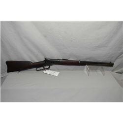 "Winchester Model 1892 .44 WCF Cal Lever Action Saddle Ring Carbine w/ 20"" rnd bbl [ old reblued fini"
