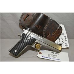 Wyoming Arms Model Parker .10 MM 8 Shot Semi Auto Pistol w/ 127 mm bbl [ stainless finish, blued rea