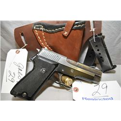 Sig Sauer Model P220 .45 Auto Cal 7 Shot Semi Auto Pistol w/ 112 mm bbl [ blued finish, starting to