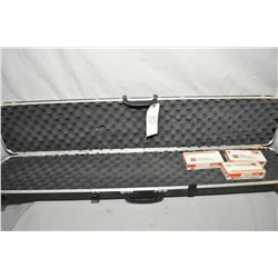 Gun Guard Foam Lined Black Plastic Luggage Gun Case w/ 20 rnds .356 Win Cal Reloads, plus two boxes