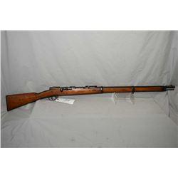 Spandau Mauser Model 1871/ 84 Circa 1887 .43 Mauser Cal Full Wood Military Bolt Action Three Band Ri