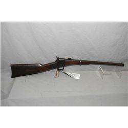 "Remington Model AKA Split Breech Type One .46 Rimfire Cal Single Shot Saddle Ring Carbine w/ 20"" rou"