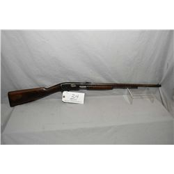 """Remington Model 12 .22 LR Cal Tube Fed Pump Action Rifle w/ 22"""" round bbl [ fading patchy blue finis"""