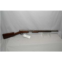 "Stevens Model Gallery No. 80 .22 LR Cal Tube Fed Pump Action Rifle w/ 24"" bbl [ patchy faded blue fi"