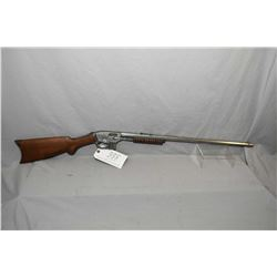 "Savage Model 25 ? .22 LR Cal Mag Fed Pump Action Rifle w/ 24"" octagon bbl [ metal polished to grey,"