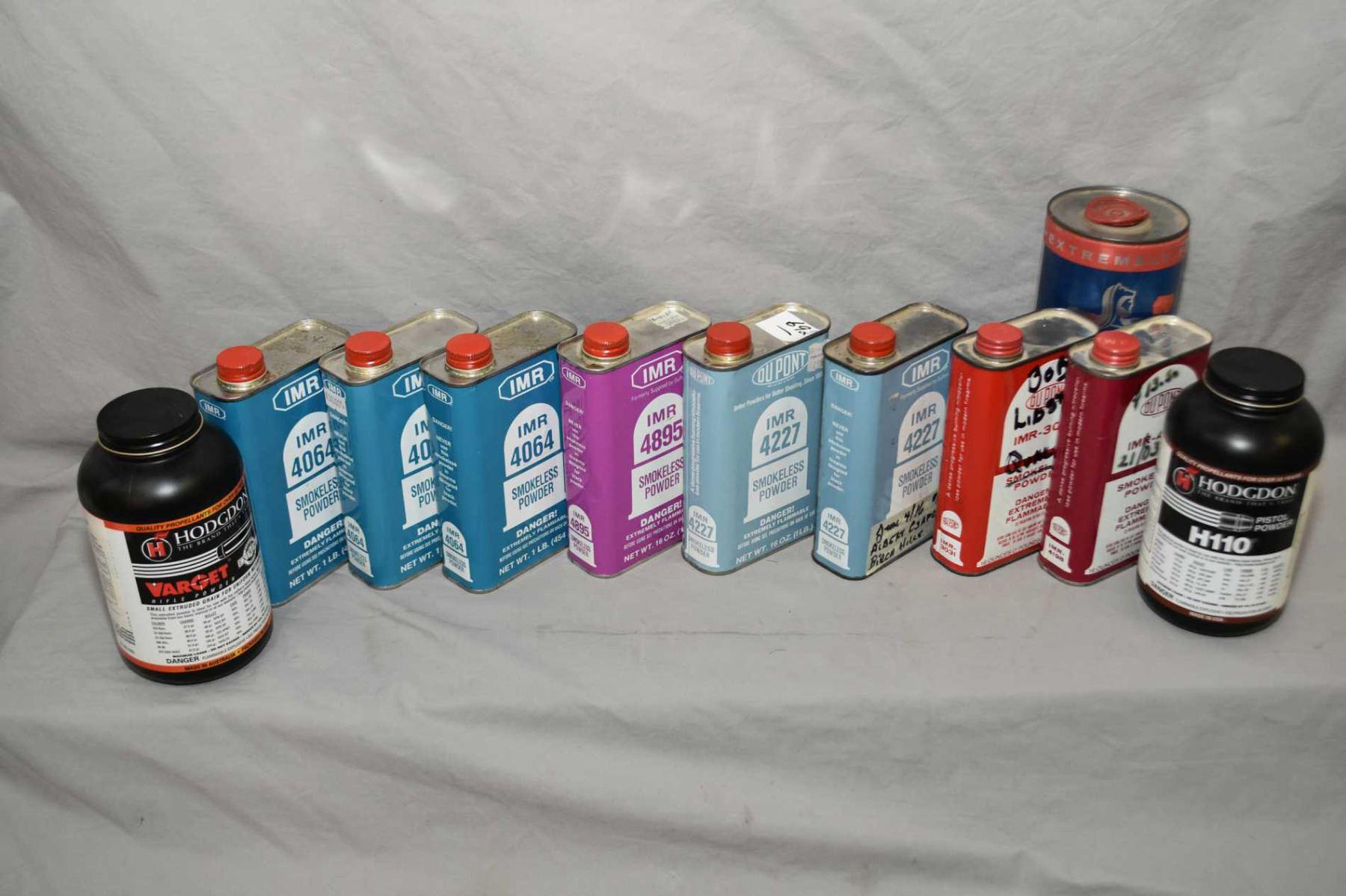 Box Lot : Asstd Gun Powder : 3 Lbs IMR 4064 - 1 Lb IMR 4895