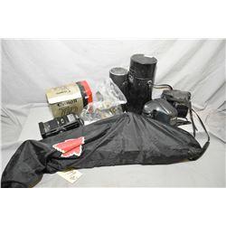 Lot of Two Items Box Lot : Camera Accessories - Camera Tripod in black case
