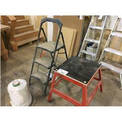 STEP STOOL & MACHINE STAND