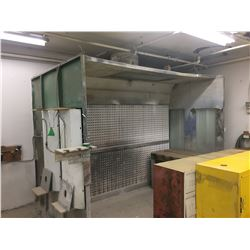 METAL BOLT TOGETHER PAINT BOOTH - APPROX. 124 X 54 X 94 IN.