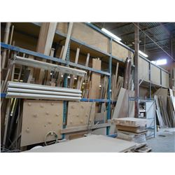 6 SECTION OF BLUE PALLET RACKING
