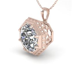 1 CTW VS/SI Diamond Solitaire Necklace 18K Rose Gold - REF-284X3R - 35993