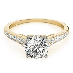 0.92 CTW Certified VS/SI Diamond Solitaire Ring 18K Yellow Gold - REF-126F2N - 27497