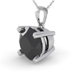 1.50 CTW Black Diamond Designer Necklace 14K White Gold - REF-49K5W - 38425