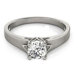 0.75 CTW Certified VS/SI Diamond Solitaire Ring 18K White Gold - REF-185R8K - 27789