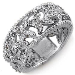 1.0 CTW Certified VS/SI Diamond Ring 14K White Gold - REF-81R3K - 10227