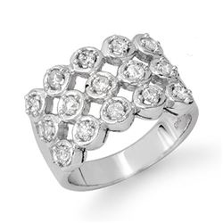 1.0 CTW Certified VS/SI Diamond Ring 14K White Gold - REF-99Y3X - 14047