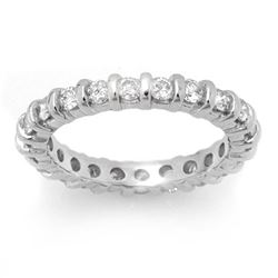 1.25 CTW Certified VS/SI Diamond Ring 14K White Gold - REF-99K5W - 11723