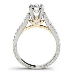 1.70 CTW Certified VS/SI Diamond Pave 2Pc Wedding Set 14K White & Yellow Gold - REF-234W2H - 32061