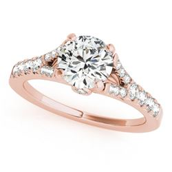 0.75 CTW Certified VS/SI Diamond Solitaire Ring 18K Rose Gold - REF-85H3M - 27631