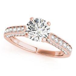 1.35 CTW Certified VS/SI Diamond Solitaire Ring 18K Rose Gold - REF-225R8K - 27523