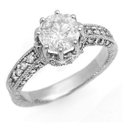 1.75 CTW Certified VS/SI Diamond Solitaire Ring 14K White Gold - REF-556A5V - 14115