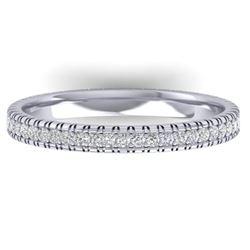 0.75 CTW Certified VS/SI Diamond Eternity Band Ring 14K White Gold - REF-53H3M - 30264