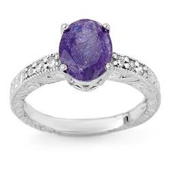 2.68 CTW Tanzanite & Diamond Ring 18K White Gold - REF-72K7W - 13915