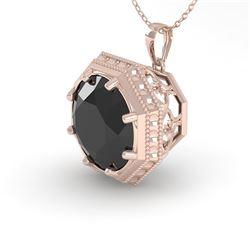1.50 CTW Black Certified Diamond Necklace 18K Rose Gold - REF-50V9Y - 36011