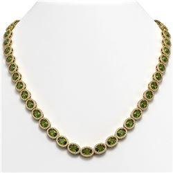 31.1 CTW Tourmaline & Diamond Necklace Yellow Gold 10K Yellow Gold - REF-600N2A - 40423