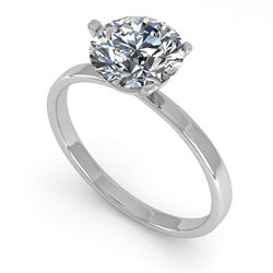 1.50 CTW Certified VS/SI Diamond Engagement Ring Martini 14K White Gold - REF-511N5A - 38332