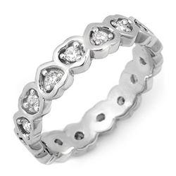 0.50 CTW Certified VS/SI Diamond Ring 10K White Gold - REF-37F3N - 11405