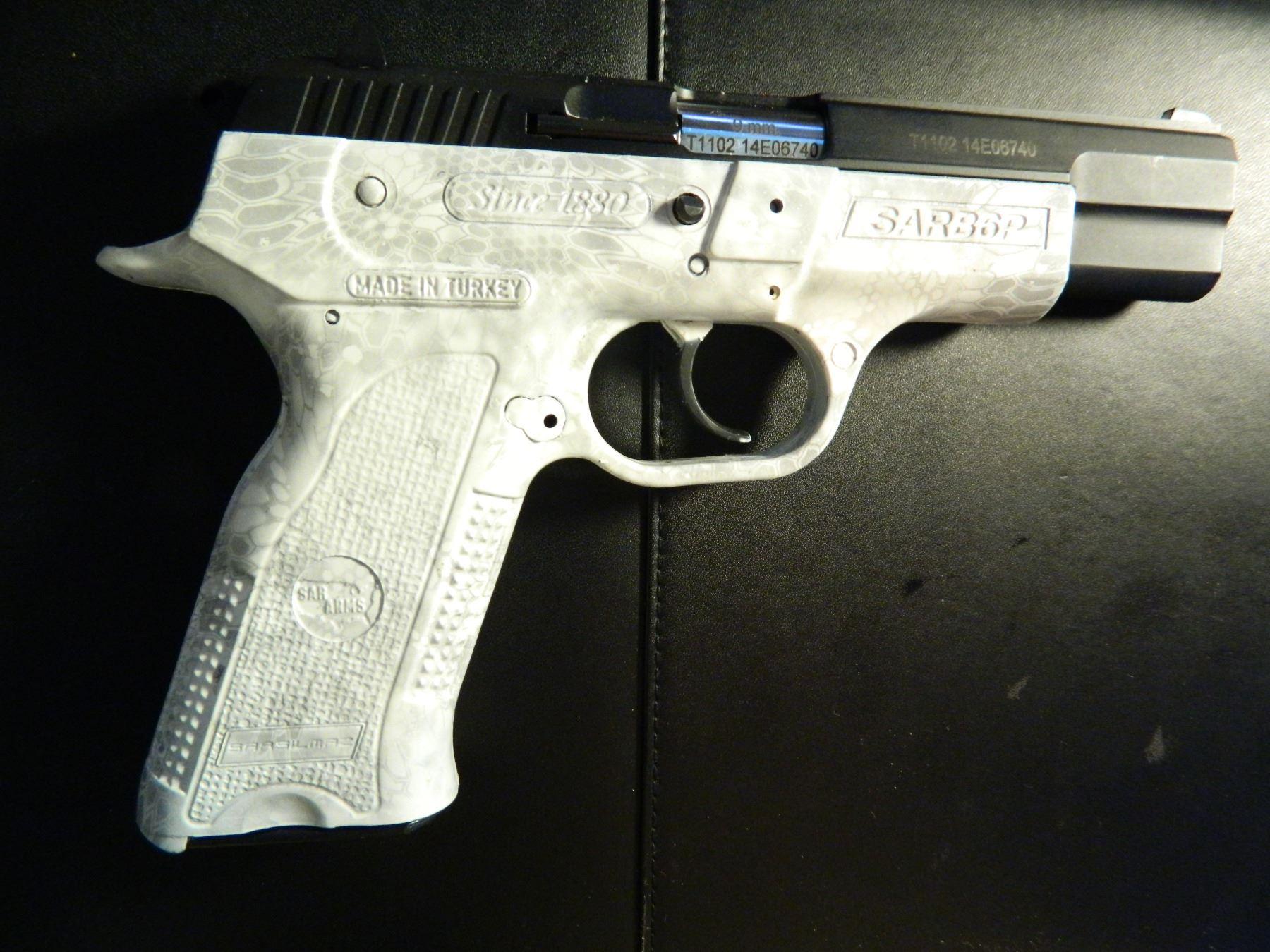 SAR ARMS B6P, 9mm, 16 Shot, Polymer Frame, Auctioneer Shot One Box