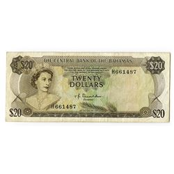 Central Bank of the Bahamas, L.1974, Donaldson Signature, Issued Banknote.