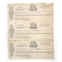 "Bank of British North America, ND (ca.1850-60's) ""San Francisco Branch"" Proof Bill of Exchange Sheet"