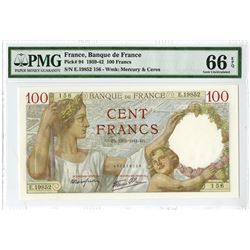 Banque De France, 1941 Issue Banknote.