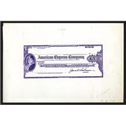 American Express Co. Travelers Cheque, 1978 Large Die Proof By ABNC.