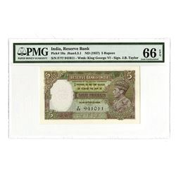 Reserve Bank of India, ND (1937), Gem Uncirculated George VI Banknote
