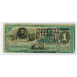 Billete Provisional 1881 issue Banknote.