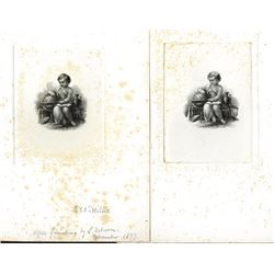 G.F.C. Smillie Signed Proof Engraved Duo with Variations.